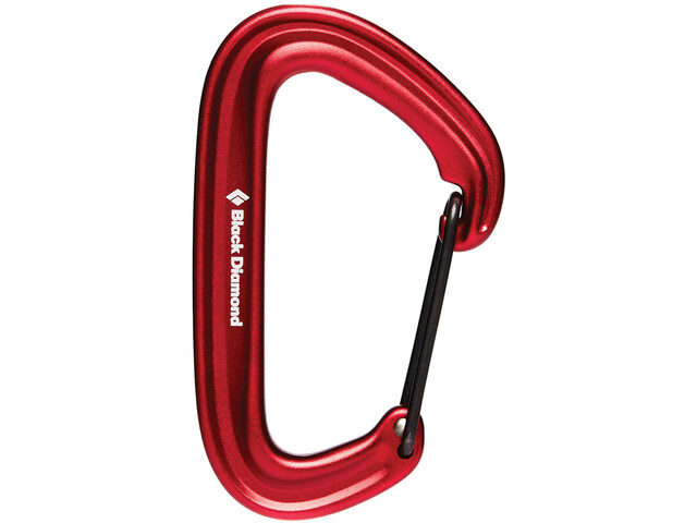 Black Diamond Litewire Mosquetón, red